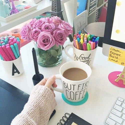 gorgeous feminine office space