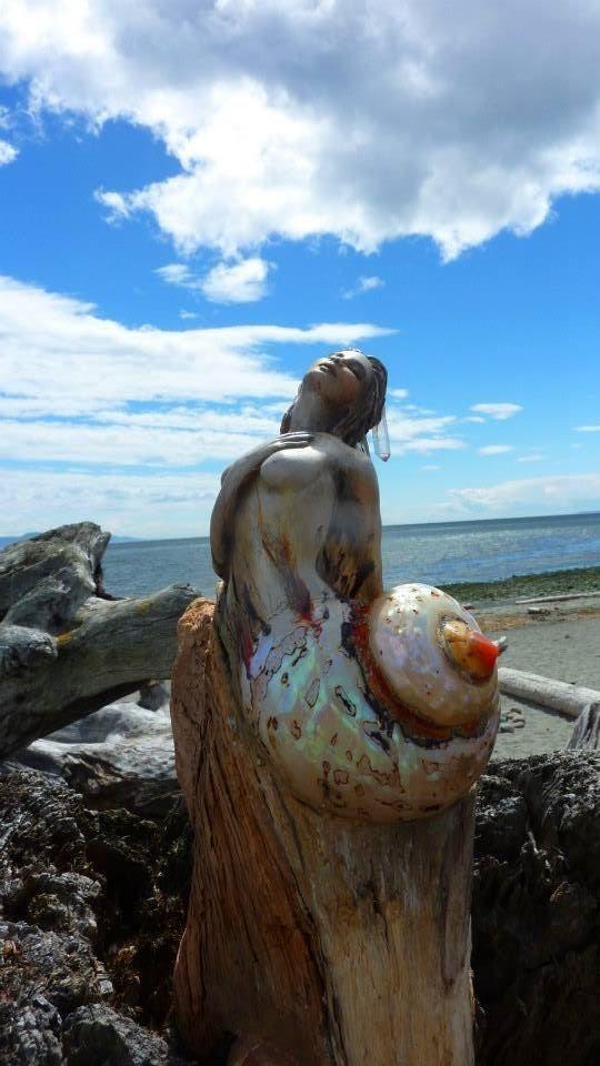 ShapingSpirit Driftwood Spirit Sculptures by Debra Bernier, my favourite driftwood and shell sculptor.