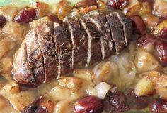Magret de canard rôti aux prunes d'Ente et aux pommes
