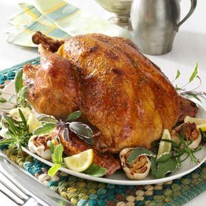 Garlic Rosemary Turkey Recipe - I'm going to keep this recipe in mind for #Thanksgiving!
