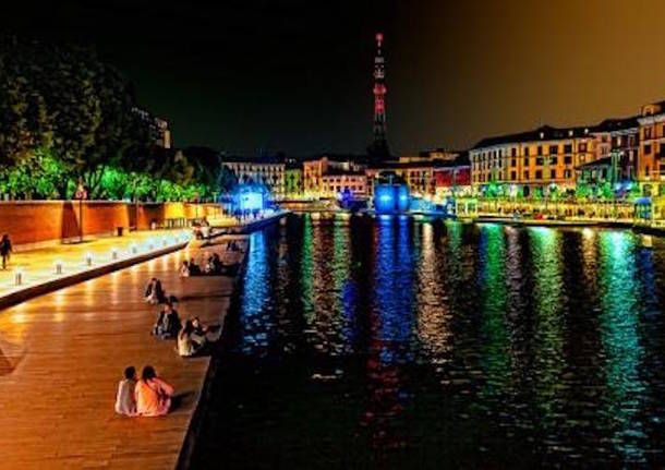 """The Darsena was the old port of Milan """"Navigli"""" (waterways), in the Porta Ticinese neighborhood. It has been redeveloped as part of the projects for Expo 2015 and now, the Nuova Darsena is a trendy destination for tourists, and for the Milanese nightlife."""
