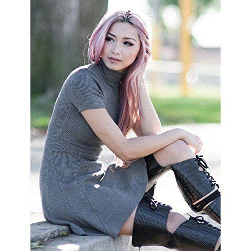 """(ブルーブティック) Bluboutique レディース ドレス ミニドレス Charcoal Turtleneck Skater Dress 並行輸入品  新品【取り寄せ商品のため、お届けまでに2週間前後かかります。】 商品詳細:65% Rayon, 35% Spandex ?32.5"""" Length ?Model is wearing size?small ?Hand wash cold 商品番号:bb-2-mi-2046"""