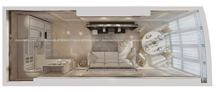 Пример дизайн-проект в (2-х) двухкомнатной квартире Одесса