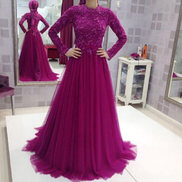 Aliexpress.com : Buy Long Sleeve Arabic Evening Dresses ...