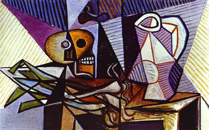 'Still Life' by Picasso is very interesting as Picasso has managed to show the objects in a new light by warping them, making them almost unrecognizable, but he still creates a sense of tone throughout even though there is very little shading.