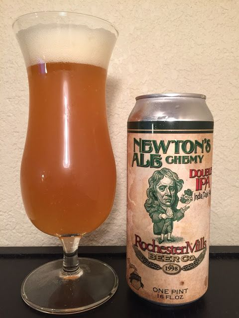 Rochester Mills Newton's ALEchemy Double IPA AROMA: Orange, pineapple and slight grassy aroma. Some lemon coughdrop. APPEARANCE: Bright orange hue over a murky body. CO2 and sediment visible. Large, white, froth with great lacing. FLAVOR: Hops impart OJ concentrate flavor, especially on the finish. Palette has a strong yeasty flavor; slightly sulfury and phenolic. There's a spicy/peppery taste that lingers (and is rather gross). Nowhere near as bitter as the style should be; seems inc...