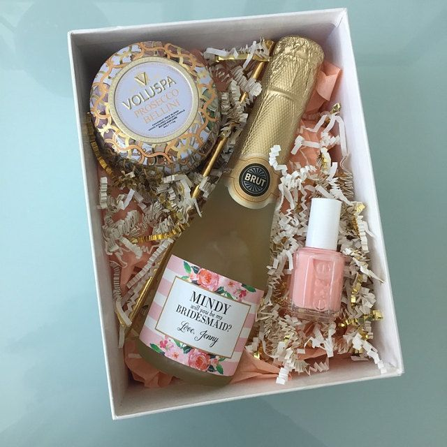 Will You Be My Bridesmaid - Maid of Honor Proposal Idea - custom champagne labels by Label with Love - http://www.labelwithlove.etsy.com