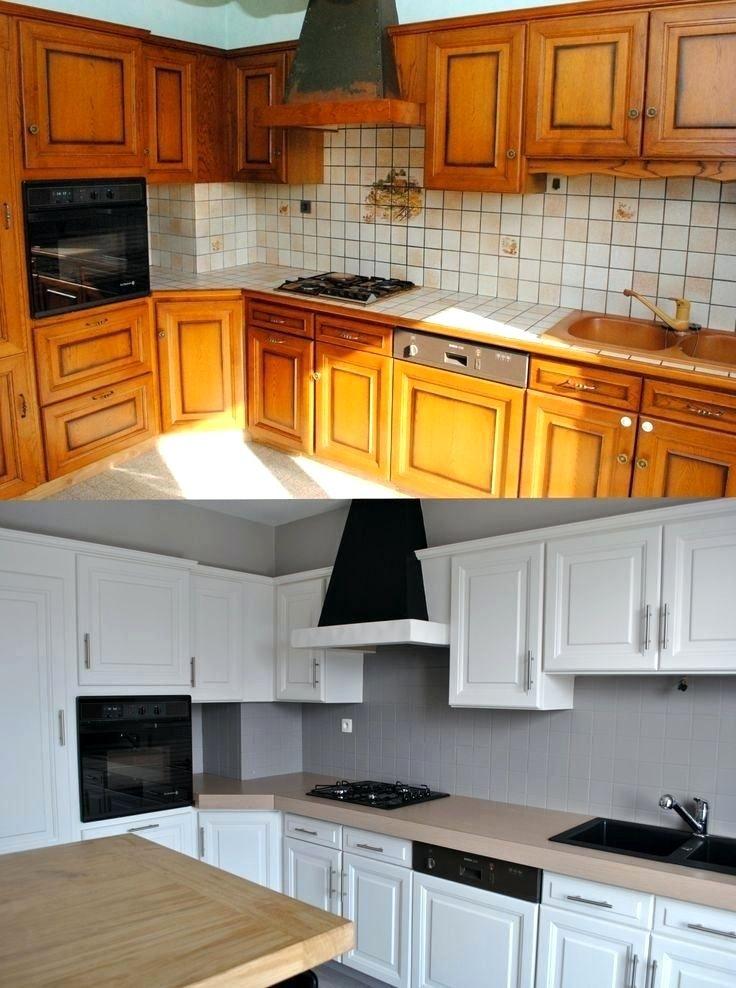 Resultat De Recherche D Images Pour Vieille Cuisine Repeinte Armarios De Cozinha Pintados Remodelacao De Mobiliario Renovacao De Cozinha