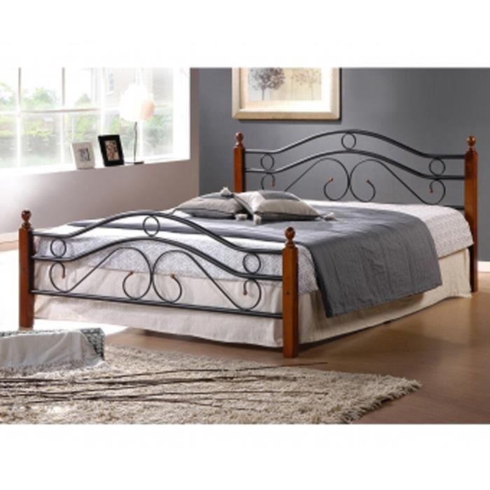 lit design en metal noir pieds de lit