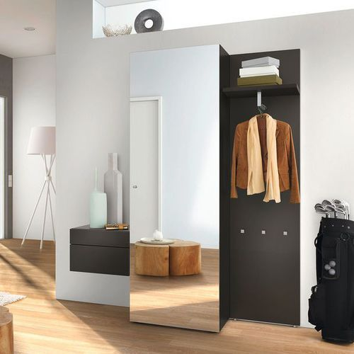 Contemporary entrance cabinet / wooden / with mirror / with storage compartment NEO  hülsta