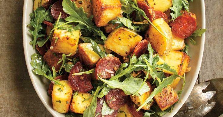 Salade de pommes de terre (sans chorizo dans cette recette pour ma part)