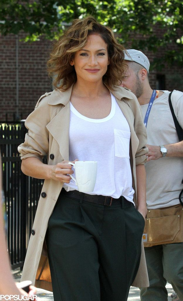 Jennifer Lopez's new TV drama, Shades of Blue, is in full production which means plenty of sightings of her in character and costume. It's all about loose jeans and pants, fitted blazers, simple t-shirts and sensible boots for this detective. Her laid back style is totally attainable and wearable!