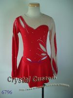 Custom  Figure Ice Skating Dresses Adult With Spandex Graceful New Brand Figure Skating Competition Dress DR2589