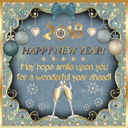 Best Happy New Year 2018 Greeting Card With Wishes