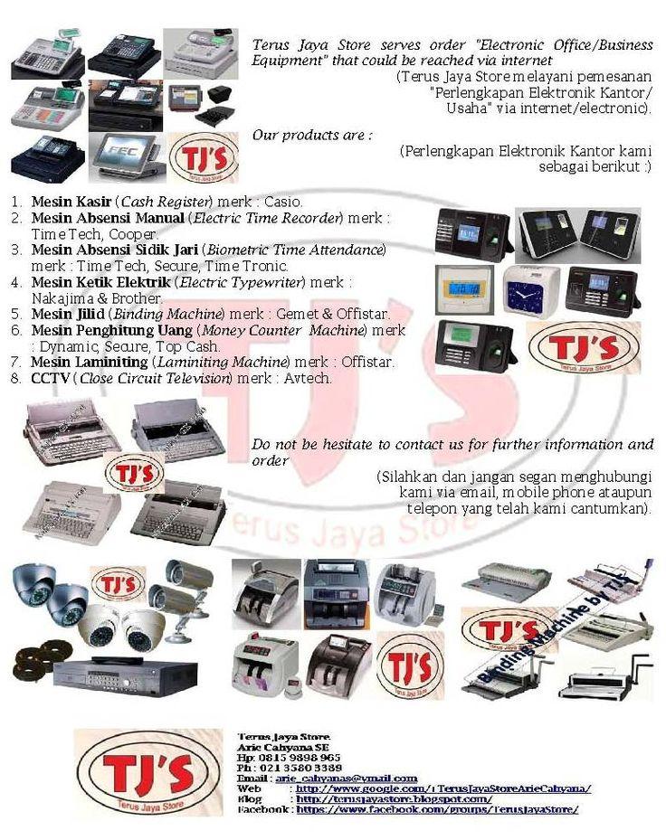 Best Regard (Hormat kami), Terus Jaya Store Arie Cahyana  Hp : 0815 9898 965  Ph : (021) 3580 3389  Email : arie_cahyanas@ymail.com Blog :  Facebook : https://www.facebook.com/groups/TerusJayaStore/   #cashregister #mesinkasir #restaurant #rumahmakan #electronic #barcode #usaha #bisnis #business #binding #machine #jilid #murah #perlengkapan #fingerprint #sidikjari #absensi #kantor #pabrik #dagang