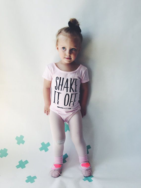 TODDLER LEOTARD Shake it Off Pink Girls Leotard by HENANDCO