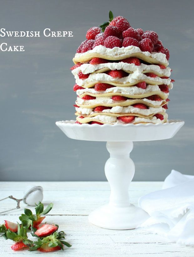Swedish Crepe Cake Recipe - Food Recipes, Dinner Ideas, Healthy Recipe Tips