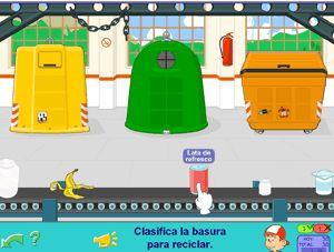 Juego de clasificar basura para Primer Ciclo de Primaria
