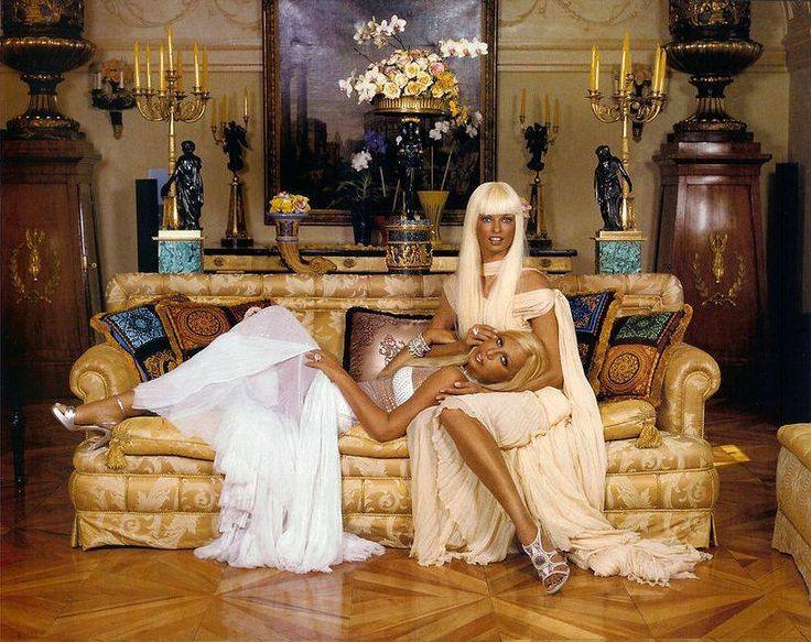 Vintage Linda Evanggelista Amp Donatella Versace 4 House Of