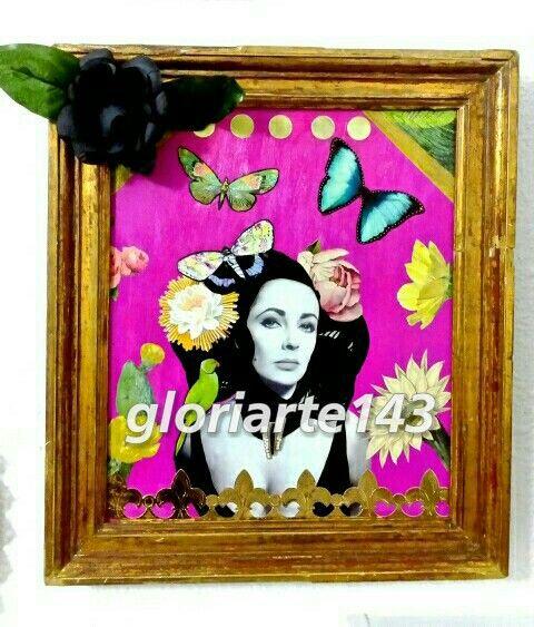 """Bella Liz"". Cuadro. Collage. Diy. (Gloriarte 143)"