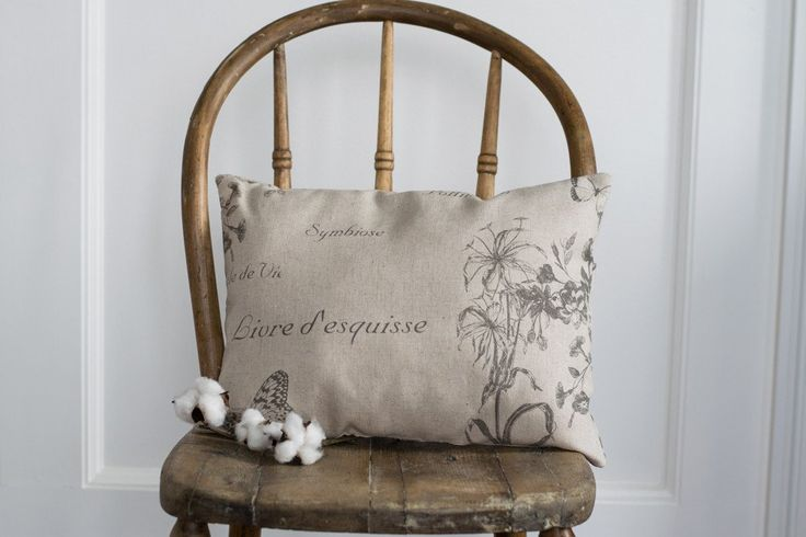 Botanique Accent Pillow - paired with a well-worn, vintage chair and placed in the kitchen - Just perfect.