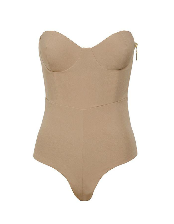 'Reckless' Nude Strapless Bodysuit - Mistress Rocks