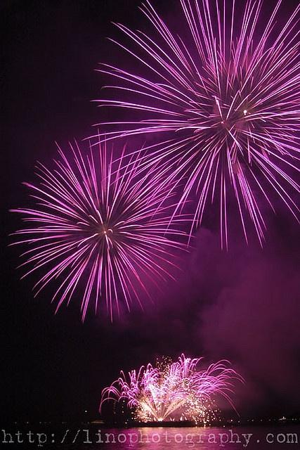 purple fireworks by linoalmuenda, via Flickr