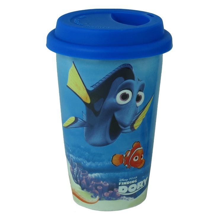 Enjoy a cuppa on the go in this travel mug featuring gorgeous movie imagery of characters Dory, Nemo, Hank, Bailey and Destiny from new Disney film Finding Dory