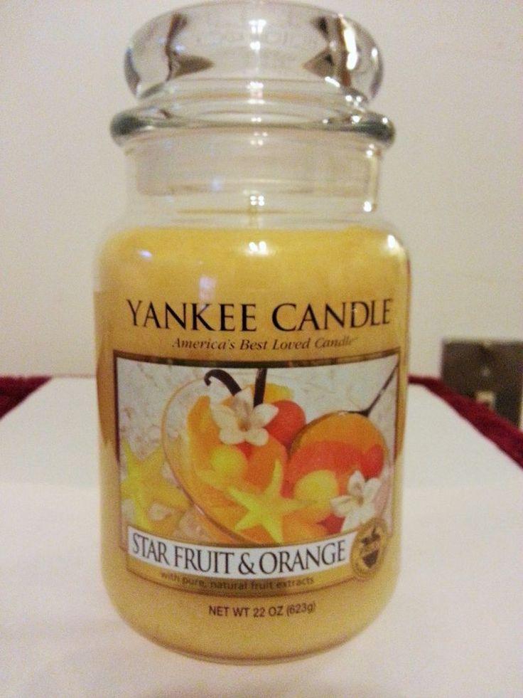 Yankee Candle Star Fruit & Orange 22 oz Jar Candle #YankeeCandle