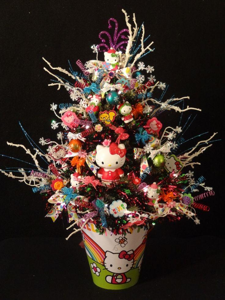 Hello Kitty Christmas Tree,Hello Kitty Christmas Decoration, Hello Kitty Christmas Trees, Hello Kitty Ornaments, Hello Kitty Decorated Tree by DesignsbyHEartWorks on Etsy https://www.etsy.com/listing/243719091/hello-kitty-christmas-treehello-kitty