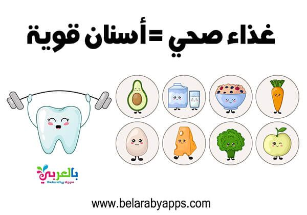 رسومات عن نظافة الاسنان عبارات ارشادية عن صحة الاسنان بالعربي نتعلم Dental Health Dental Comics