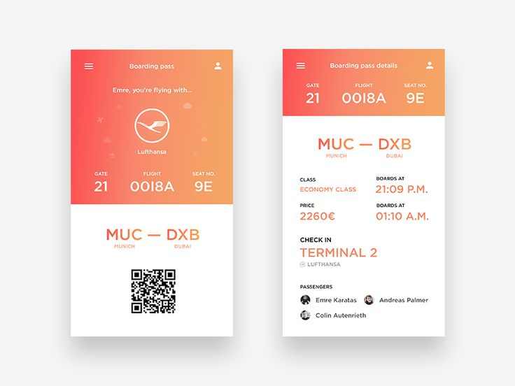 Mobile Boarding Pass App