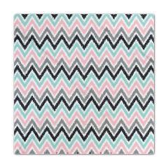 Pink Mint Gray Zigzags Ikat Pattern Queen Size Duvet Cover #bedding #duvet #chervons #ikat #zigzag #mint #pink #gray #aqua #blue #bedroom #home #decor #homedecor