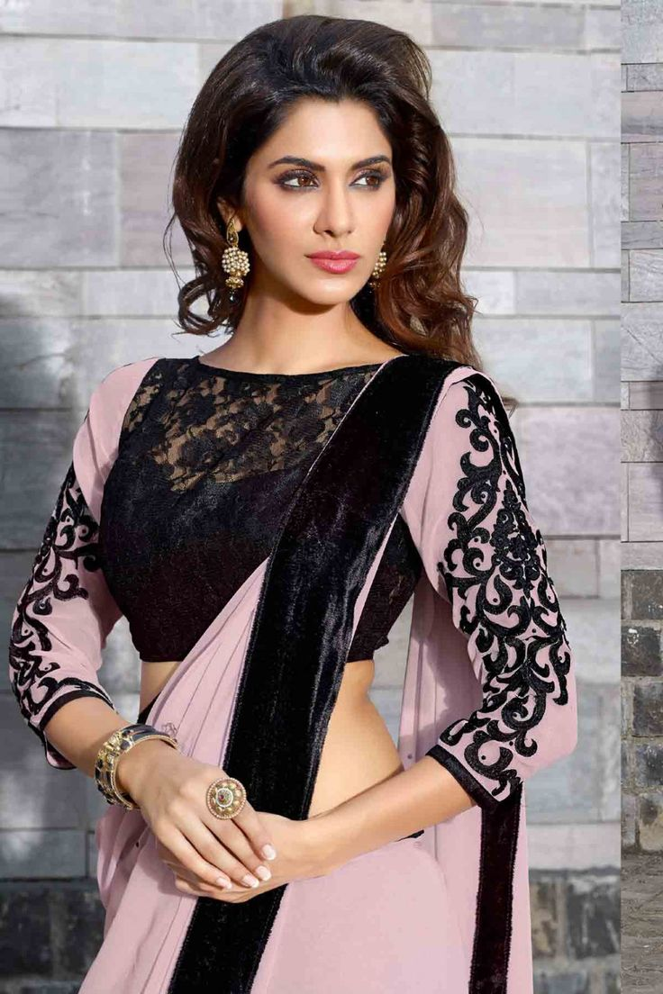 Look Classy with Pink Faux Georgette Saree Shop Now @ http://zohraa.com/pink-faux-georgette-saree-86181.html SKU: KasatASH631 Rs.1849/-