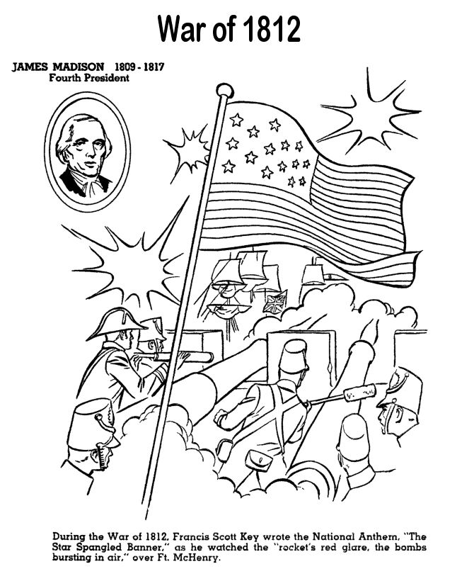 Star Spangled Banner Quilt Sketch Coloring Page
