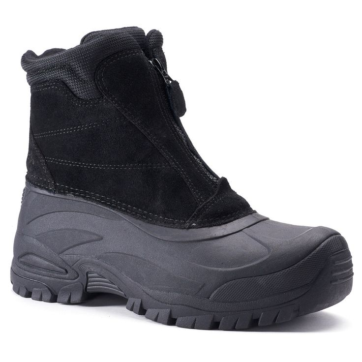 Totes Burst Men's Waterproof Winter Boots, Size: medium (10), Black