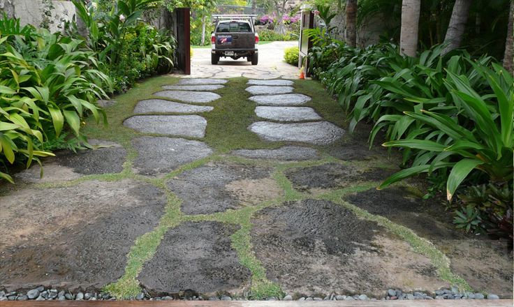 cement stone driveway