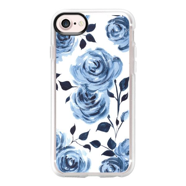 Porcelain Roses - white - iPhone 7 Case And Cover ($40) ❤ liked on Polyvore featuring accessories, tech accessories, phone, phone cases, electronics, phonecases, iphone case, clear iphone case, iphone cases and apple iphone case