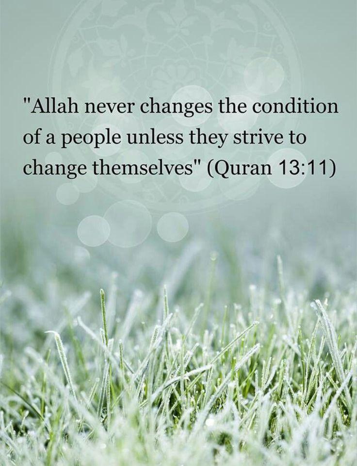 لا يغير ما بقوم إلا أن يغيروا ما بأنفسهم