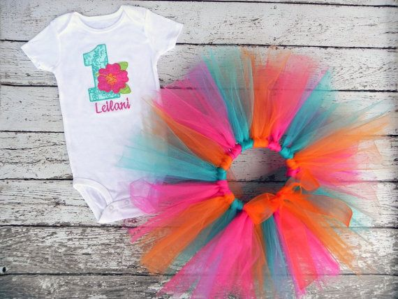 Luau First Birthday Outfit Personalized Shirt by TheStripedSwallow, $47.00