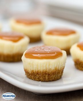 Petits gâteaux au fromage au caramel salé #recette