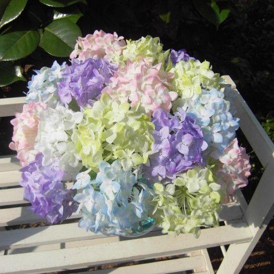 Прекрасный реалистичные светло фиолетовый мини гортензия искусственный поддельные цветок расположение дома украшения гостиницыкупить в магазине Alice's RhapsodyнаAliExpress