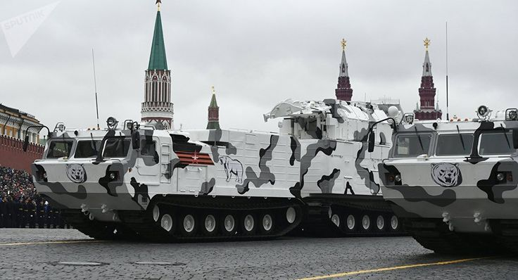 Russia Showcases New Arctic Military Vehicles at Red Square Parade - https://www.richardcyoung.com/essential-news/russia-showcases-new-arctic-military-vehicles-red-square-parade/ - On May 9th 2017, Russia showcased its new Arctic military hardware during its Victory Dayparade in Red Square. In addition to new bases and upgrades to current bases in the Arctic, Russia is adding a fleet of new vehicles that can run in -50 degree Celsius temperatures. In an article on Russia.
