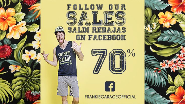 CONTINUANO I SALDI DI #frankiegarage SULLO SHOP ONLINE! http://www.frankiegarage.it/ #followus #facebook