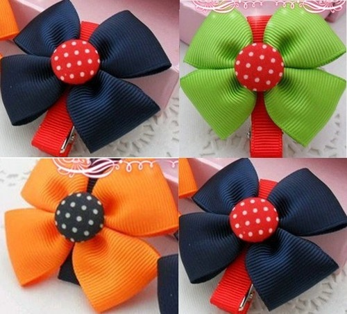 Colorful Bow Dots Hair Clips Hair Pins Hair Accessories for Kids Girls Babies | eBay