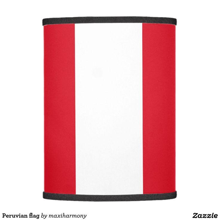 Peruvian flag lamp shade