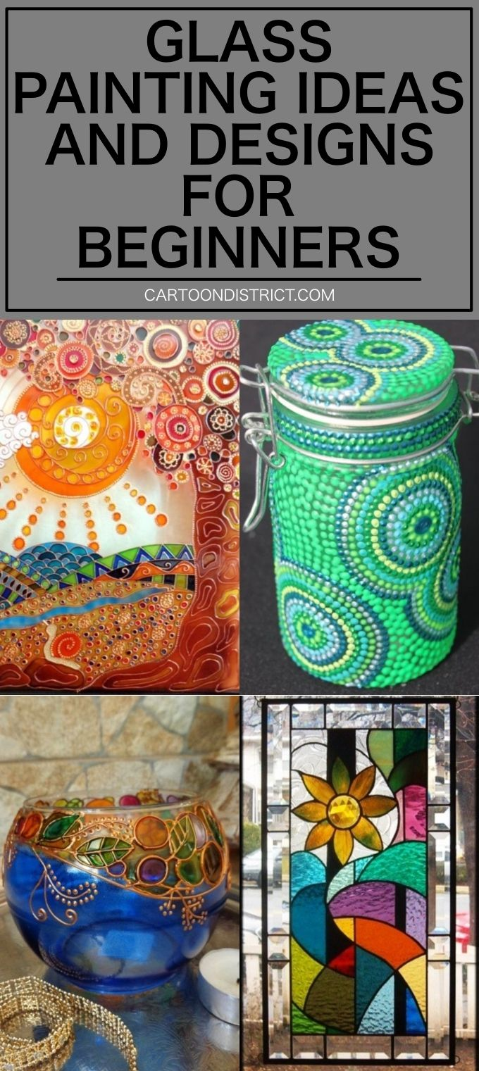 Here Are Easy Glass Painting Ideas And Designs For Beginners You Can Try Out Having The Basic Origin Glass Painting Designs Painting Glass Jars Glass Painting