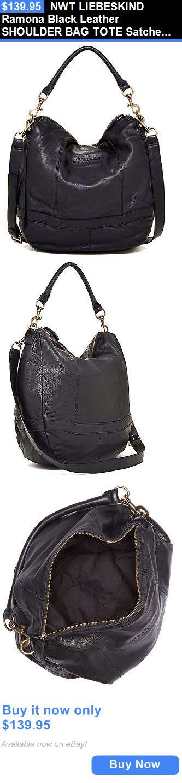 Women Handbags and Purses: Nwt Liebeskind Ramona Black Leather Shoulder Bag Tote Satchel Purse Handbag New BUY IT NOW ONLY: $139.95