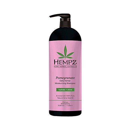 Hempz Moisturizing Shampoo, Pearl Pink, Pomegranate, 33.8 Fluid Ounce