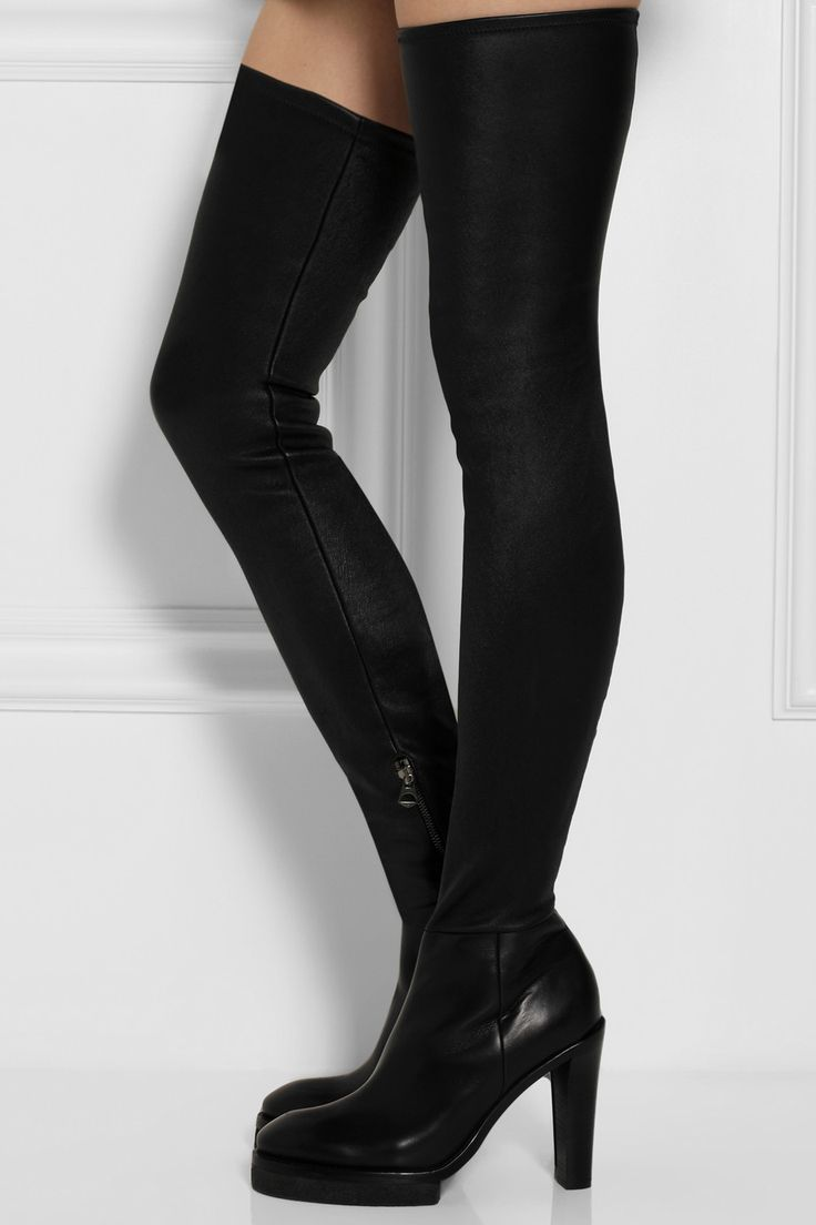 Acne Studios | Revery leather over-the-knee boots | NET-A-PORTER